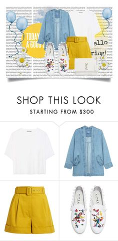"""""""HELLO SPRING"""" by gizzemm97 ❤ liked on Polyvore featuring Vince, Steve J & Yoni P, Isa Arfen, Joshua's and Yves Saint Laurent"""