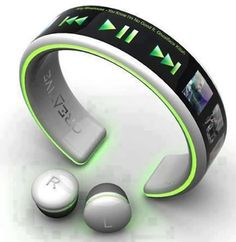 amazing wrist player an micro ear phone gadget by creative electronics ...