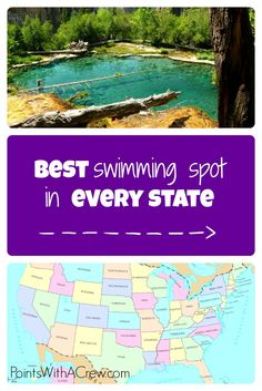 Check out the most amazing and beautiful swimming pool spots in each of the 50 states - how many have you been to?