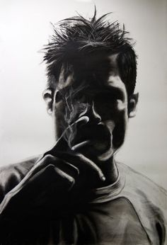 Charcoal/Screen Print posters of the TV shows House and Dexter.