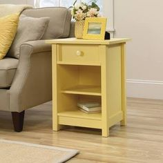 Sauder Original Cottage Collection Side Table (Yellow)