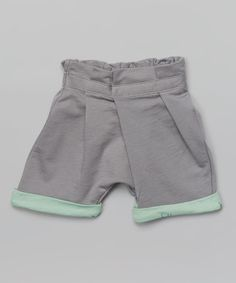 Another great find on #zulily! Gray Pleated Shorts - Infant, Toddler & Girls by OmamiMini #zulilyfinds