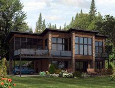 elevacion fachada plano de casa innovador