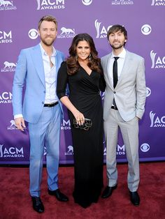 No wonder Lady Antebellum's ... Charles Kelly, Hillary Scott, and Dave Haywood were all smiles at the bash ... They're nominated for Vocal Group of the Year, Album of the Year, and Song of the Year.