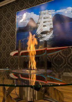 Kominek na biopaliwo Ebios-Fire Tisch Rund