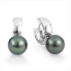 YANA NESPER Perlenohrringe (Creolen) UN18 mit Tahitiperlen aus der Kollektion Urban Nights, http://www.yana-nesper.de/perlenschmuck/perlenohrringe/un185 #Tahitiperlen #pearls