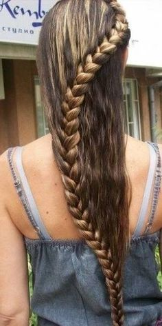 modne fryzury młodzieżowe warkocz - Szukaj w Google