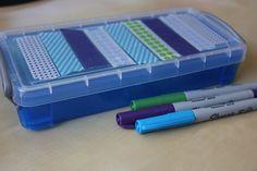 Decorate a pencil box with Washi Tape