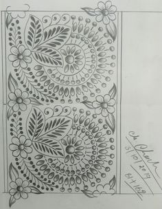 Embroidery Saree, Hand Embroidery Patterns, Lace Patterns, Beaded Embroidery, Embroidery Designs, Dress Design Sketches, Art Sketches, Bordado Popular, Pencil Design