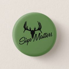 Size Matters Green Button - accessories accessory gift idea stylish unique custom