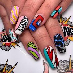 Abstract Luxury Nails ❤ Ideas of Luxury Nails To Really Dazzle In 2020 ❤. - Abstract Luxury Nails ❤ Ideas of Luxury Nails To Really Dazzle In 2020 ❤ See more ideas on - Edgy Nails, Grunge Nails, Funky Nails, Stylish Nails, Swag Nails, Funky Nail Art, Bling Nails, Hallographic Nails, Bright Nail Art