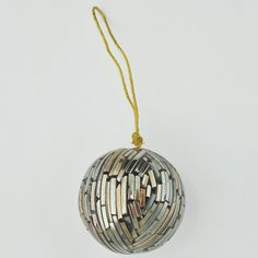 Recycled Glass Globe Ornament $4