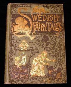 1893 Swedish Fairy Tales Herman Hofberg Hardcover Book