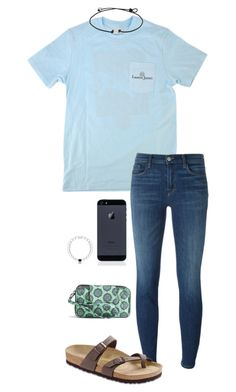"""Untitled #633"" by shelbycooper ❤ liked on Polyvore featuring J Brand, Birkenstock and Vera Bradley"