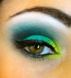 Makeup Look I did awhile back! Mermaid, Tropical Fish, ... Not sure what to call it!