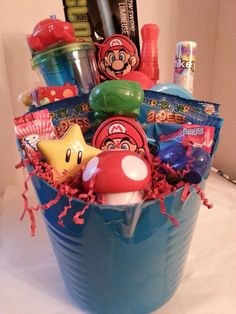 Spiderman easter basket cabe found at debs creations at www gift basket mario negle Gallery