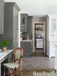 #Kitchen of the Month, December/January 2014. Design: Caitlin Wilson. Kitchen Cabinets LOVE the herringbone floor