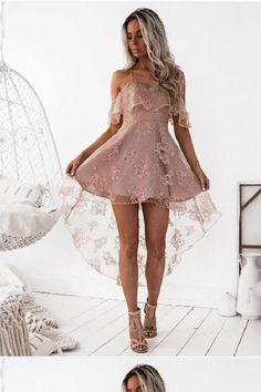 Lace Homecoming Dresses, Custom Made Prom Dresses, Prom Dresses A-Line, Prom Dresses Short, Homecoming Dresses 2018 #Homecoming #Dresses #2018 #Prom #ALine #Short #Lace #Custom #Made #CustomMadePromDresses #PromDressesShort #LaceHomecomingDresses #PromDressesALine #HomecomingDresses2018