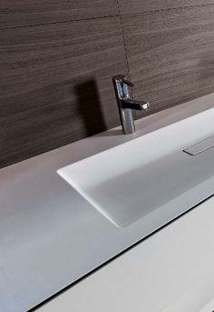 Shape Evo collection, washbasin in Cristaplant by Falper _