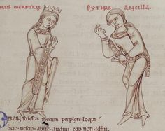 1150 - Terence's Comedies, in Latin, with Romanesque drawings. 57r