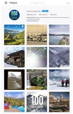 Turismo Asturias perfil Instagram. Promoción de destinos españolas a traves de redes sociales.