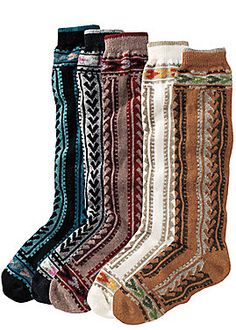 boot socks...need these! I hate it when regardless of the height of sock I wear with boots, they somehow get SHOVED THE HECK DOWN so they're bunched up around my toes. Socks this height would fix that problem-o.
