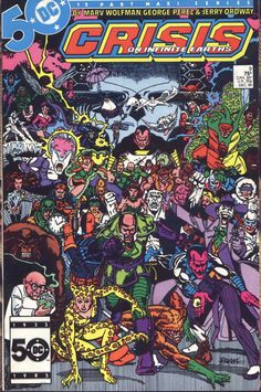 Crisis On Infinite Earths #9, december 1985, cover by George Perez.