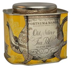 """FORTNUM & MASON"" OLD SILVER TEA POT, BLEND TEA"