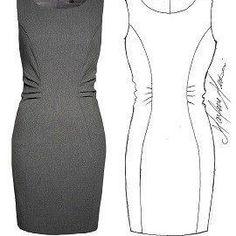 Vestido de tubo con corte drapeado lateral