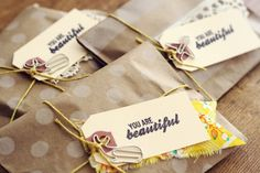 oh, hello friend: you are loved.: simple packaging idea: