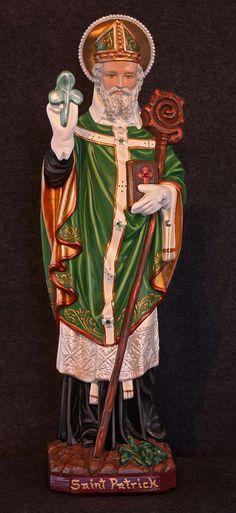 "St. Patrick 20"" Bishop Catholic Christian Plaster Irish Religious Statue"