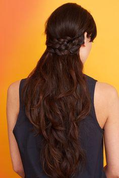 3 Easy Hairstyles Perfect For Biking To Work Hairdos For Work, Bandana Hairstyles, Easy Hairstyles For Long Hair, Pretty Hairstyles, Braided Hairstyles, Perfect Hairstyle, Hairstyle Ideas, Half Crown Braids, Helmet Hair