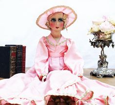 French Boudoir Doll. Large 1930s Salon Doll.