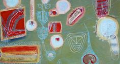 Arrangement of parts, detail Textile Art, Oil On Canvas, Abstract Art, Textiles, Artists, Eye, Detail, Google Search, Painting