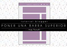 Tutorial Blogger: Poner una barra arriba del todo en el blog