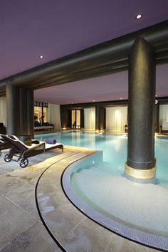 La Reserve Geneve Spa indoor pool