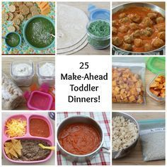 25 Make-Ahead Toddler Dinners via yummytoddlerfood.com | meal ideas for toddlers | healthy toddler meals | weekly meal plans | healthy toddler recipes