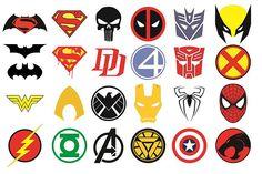 24 x Superhero Logos Edible Cupcake Toppers PreCut