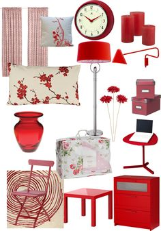 """red bedroom accessories"" by tweetycleopatra on Polyvore"