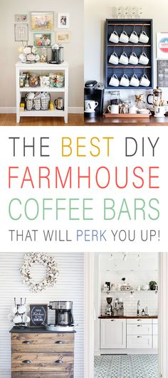 The Best DIY Farmhouse Coffee Bars That Will Perk You Up are brewing over at The Cottage Market! Inspiration and Ideas await you! Bring a full cup of Joe! Furniture Inspiration, Home Decor Inspiration, Cool Diy, Furniture Makeover, Diy Furniture, Home Coffee Stations, Funky Junk Interiors, Diy Mugs, Diy Home Decor Easy
