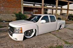 "Tricked Out Showkase - A Custom Car | Sport Truck | SUV | Exotic | Tuner | Blog: Wild Dumped Silverado on 26"" Wheels"