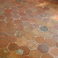 Terracotta Floor Tiles - Hexagonal Blanc Rose Terracotta