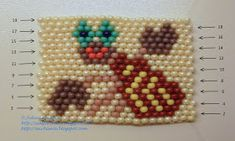 Free detailed tutorial with step by step photos on how to make a keychain with zodiac sign Cancer out of seed beads in brick stitch. Great for beginners!