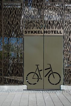 Sykkelhotell Asker entrance Bicycle Storage, Entrance, Bike, Shop, Rats, Veil, Bicycle Kick, Entryway, Bicycle