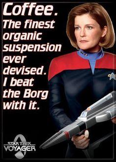 1 X Star Trek - Voyager - Janeway Quote - Refrigerator Magnet by Ata Boy @ niftywarehouse.com #NiftyWarehouse #StarTrek #Trekkie #Geek #Nerd #Products