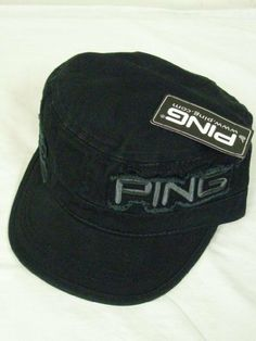 Ping Men's Ranger Cap (Black) 2012 Military Golf Hat NEW by Ping. $19.99. Headwear Specifications:COMPANY / BRAND: Ping MODEL: Men's Ranger Cap, 2012MODEL SPECIFICS: Soft-washed cotton twill, Distressed PING applique on left, Distressed patches on right, rear adjustable velcro strap, 100% cottonSIZE: One size fits allCONDITION: New CONDITION SPECIFICS: New condition 10, nice men's ranger cap!
