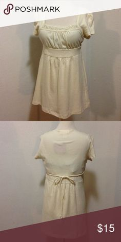 New. Off-white baby doll top! New. Off-white baby doll top! Self Esteem Tops Blouses