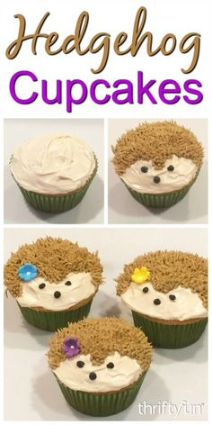 Making Hedgehog Cupcakes | ThriftyFun