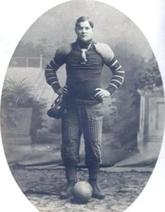 Old Football Uniform Photo: I would like if someone could possibly identify the uniform in this photo. This person is an ancestor of mine and I believe he died shortly after this