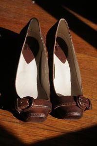 brown vintage shoes